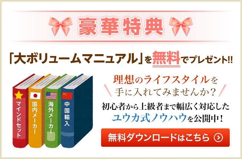豪華特典「大ボリュームマニュアル」を無料でプレゼント!